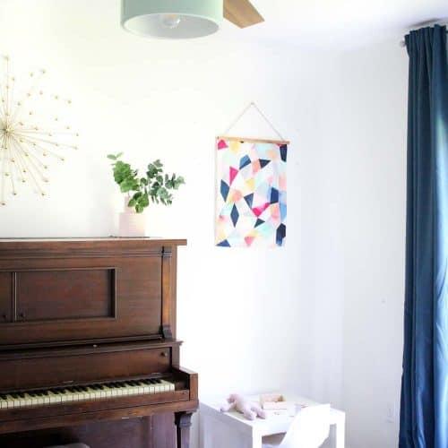 Modern Family Room Playroom Combo