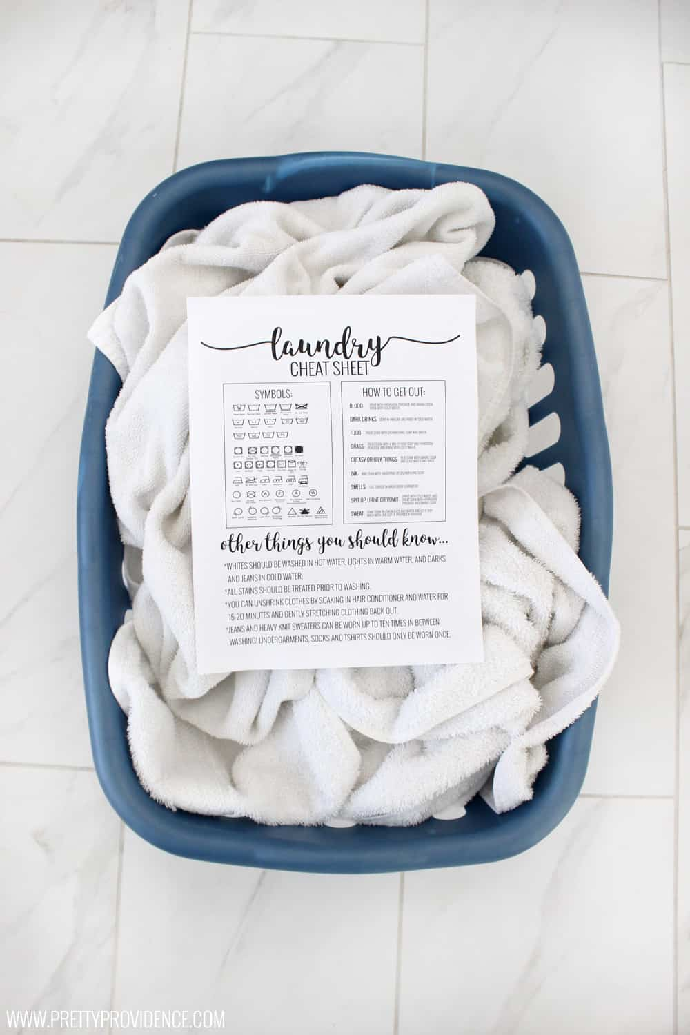 Okay this laundry cheat sheet is LIFE CHANGING! Super easy reference guide on how to get out virtually anything- and knowing what all the symbols mean at a glance! Must save.