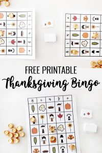 thanksgiving bingo sheets with rolos
