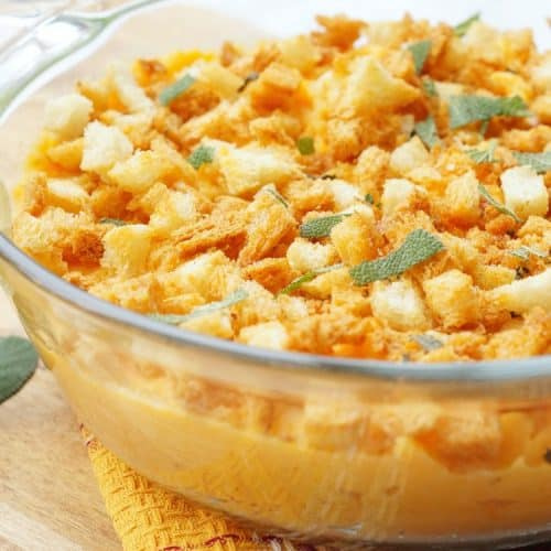 Savory Sweet Potato Casserole with Sage Breadcrumbs
