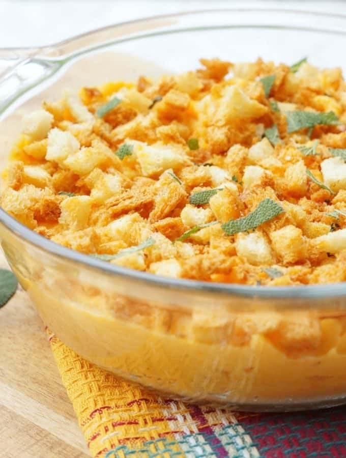 Savory Sweet Potato Casserole with Sage Breadcrumbs