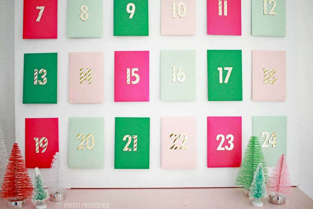Advent Calendar Envelopes Ideas : Envelope advent calendar pretty providence
