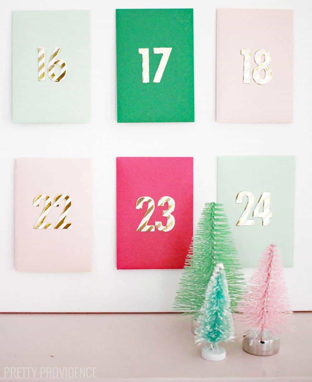 Advent Calendar Envelopes Ideas : Envelope advent calendar pretty providence