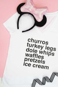 This DIY Disney Snacks t-shirt is SO cute and so easy to make too!!! Obsessed!