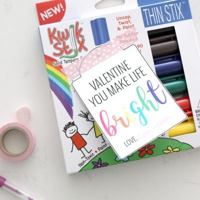 "Free Printable ""Bright"" Gift Tags"