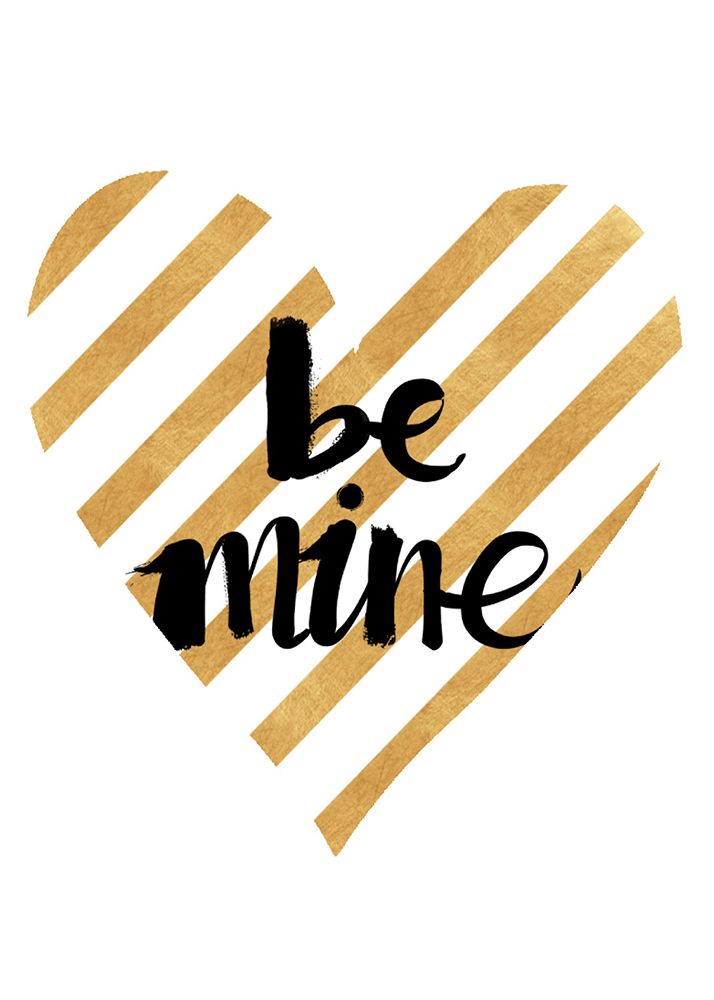 Gold Printable Valentine Card