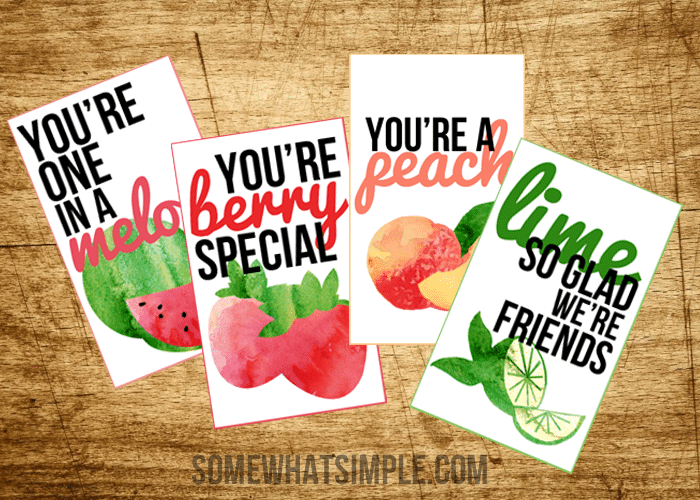 Fruit Valentines Cards