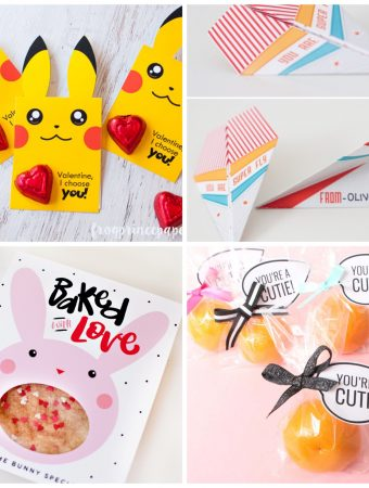 There are SO many cute Valentines here, perfect for kids class parties! A lot of non-candy options here, too!