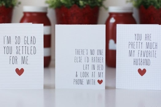photograph about Printable Valentine Cards for Husband named Totally free Printable Valentines Working day Playing cards