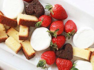 Fancy Fondue Dippers + Chocolate Fondue Recipe