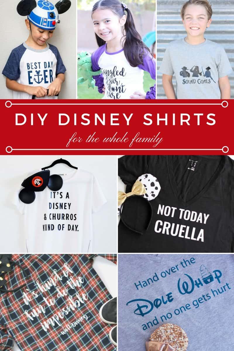 Super fun DIY shirts for a Disney trip!