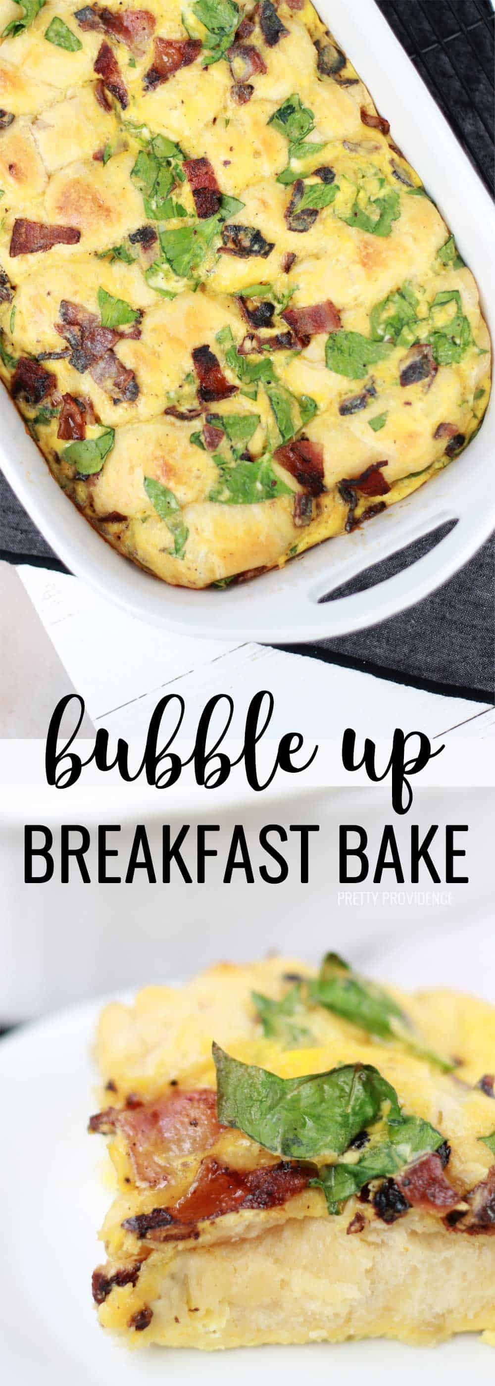 My family LOVES this bubble up breakfast bake! It's great for breakfast, brunch or for a quick weeknight dinner!