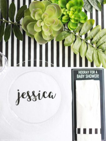 Black and White Baby Shower Table
