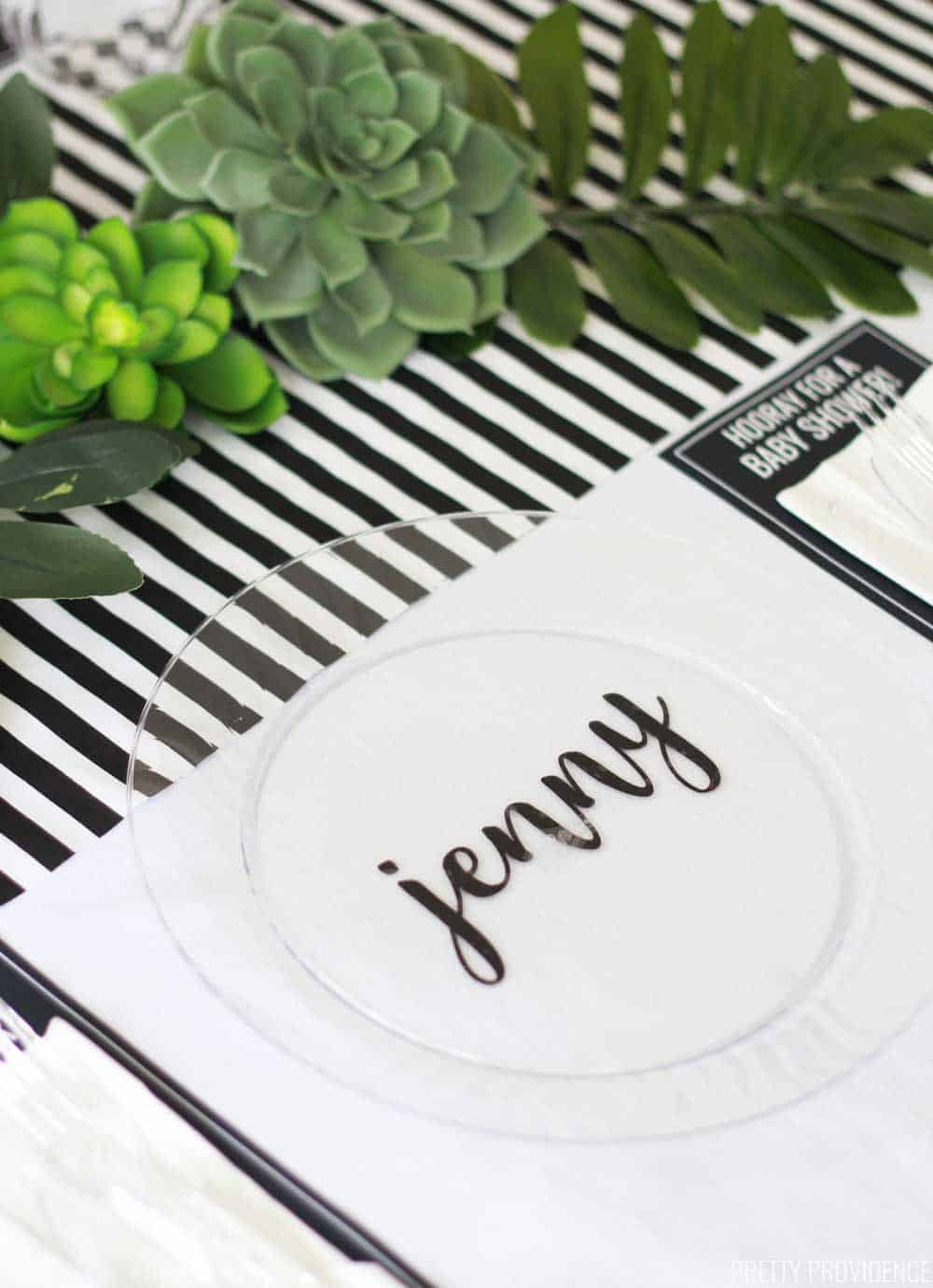 Black and White Baby Shower Decoration Ideas