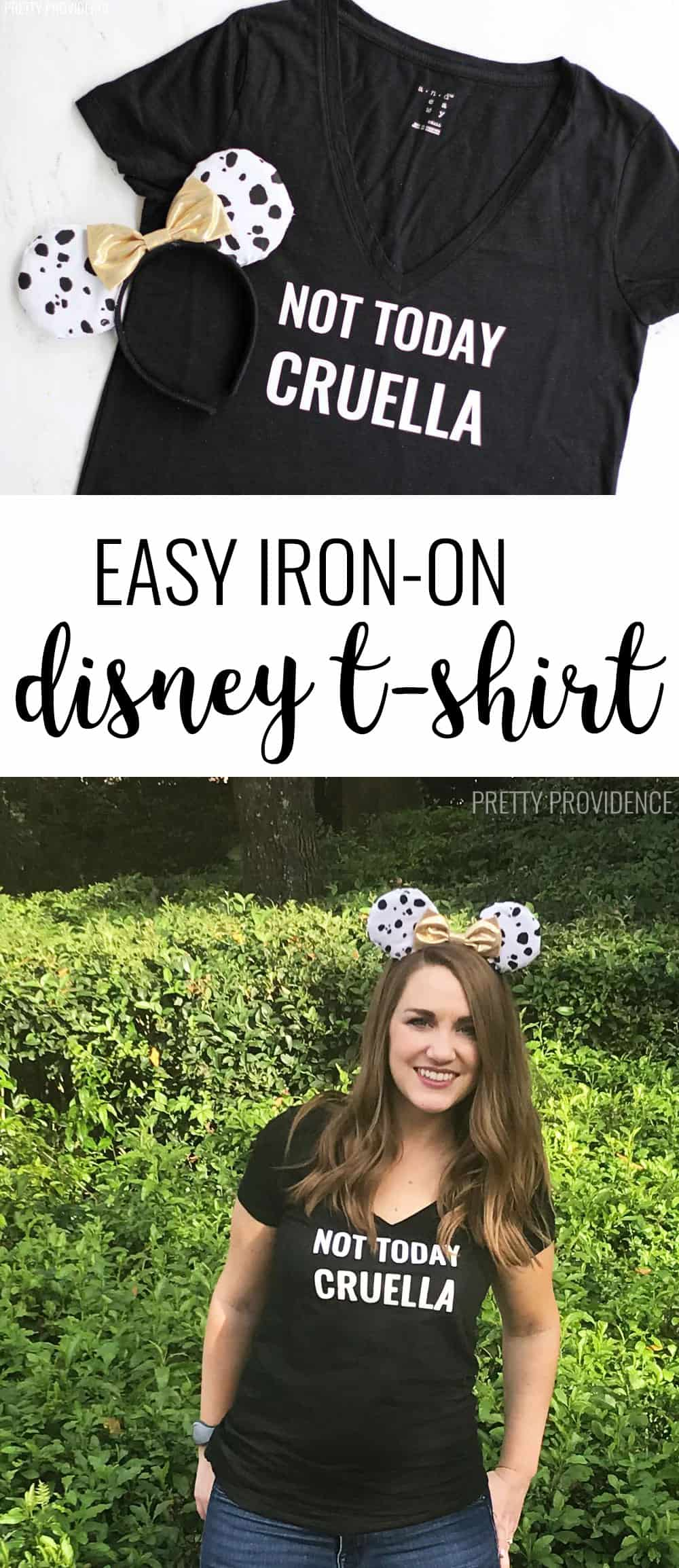 Thsi DIY shirt is perfect for Disneyland or Disney World! Easy to make with iron-on and free cut file!