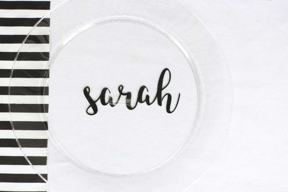 Personalized plate for a table setting!