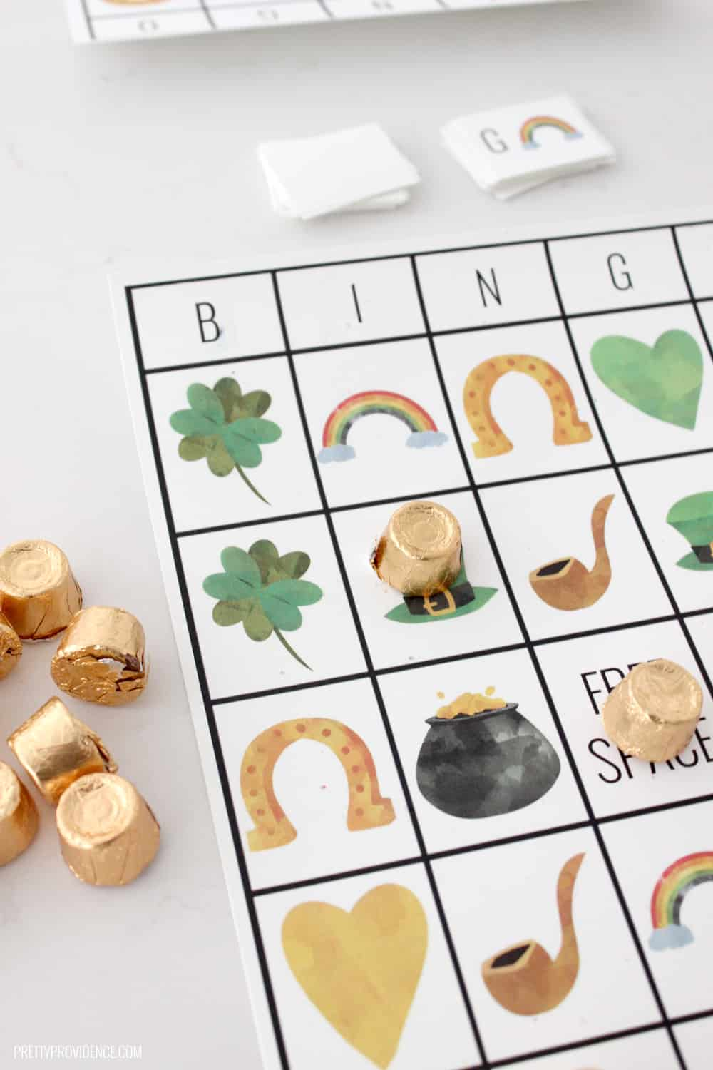 How fun is this free printable St. Patrick's Day Bingo?! It is perfect for all the class parties or even just entertaining the little ones at home!
