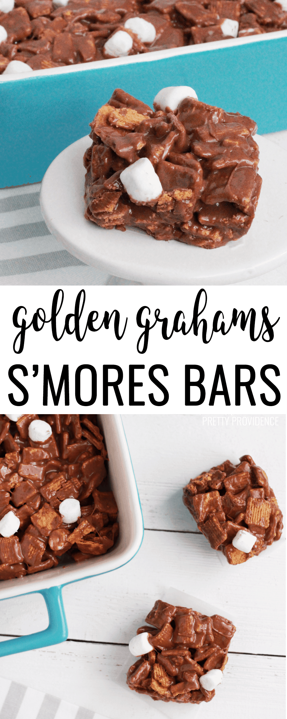 These S'mores bars with marshmallow, chocolate and golden grahams are TO DIE FOR!