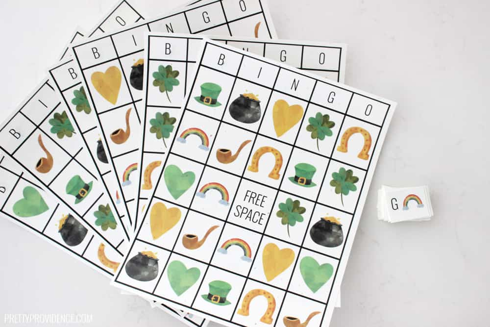 photograph relating to St Patrick's Day Bingo Printable titled Free of charge Printable St. Patricks Working day Bingo Sheets and Making contact with Playing cards