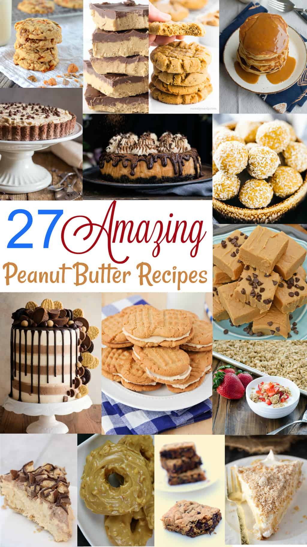Are you a peanut butter lover?! Then this post's for you! 27 amazing peanut butter recipes, coming right up!