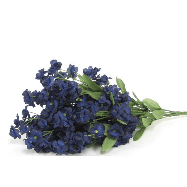 Navy blue double ruffle stem