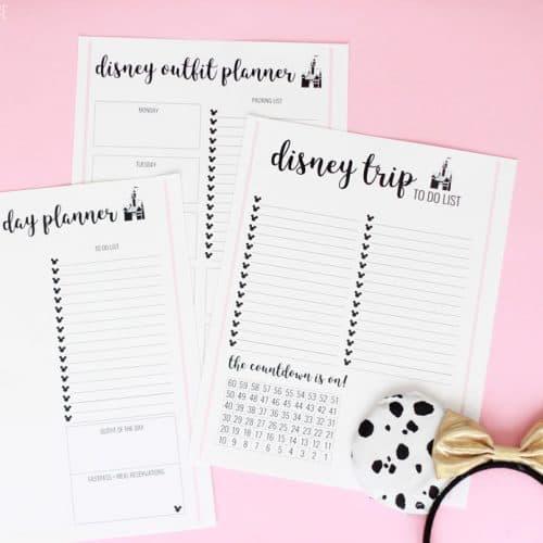 Disney Trip Planner Sheets