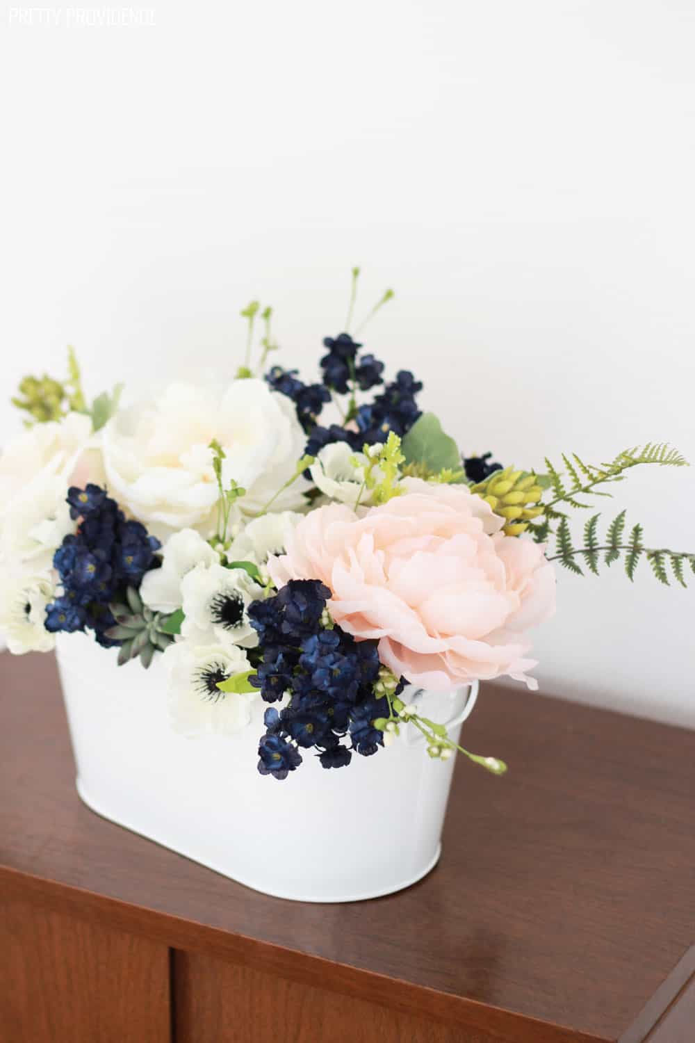 Pink & Navy Flower Arrangement - Pretty Providence