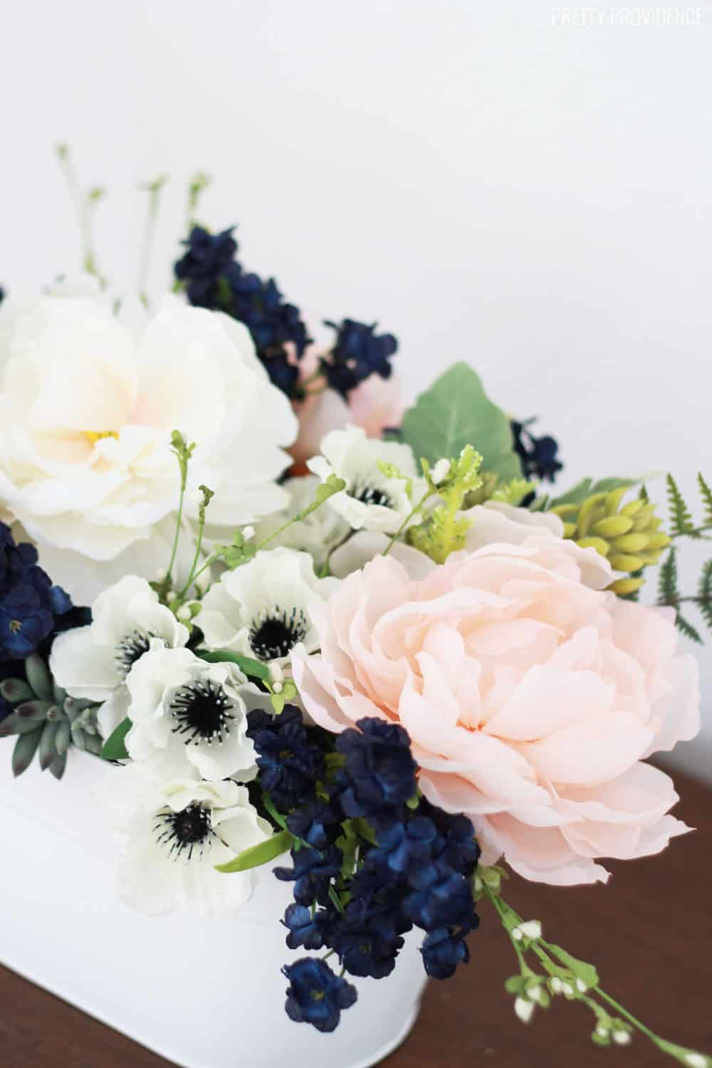 Pink Navy Flower Arrangement Pretty Providence