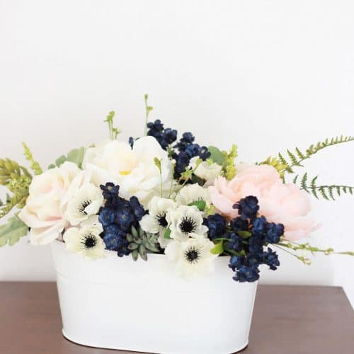 Pink & Navy Flower Arrangement