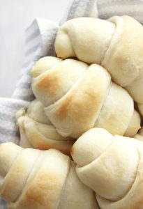 Close up of fresh homemade rolls