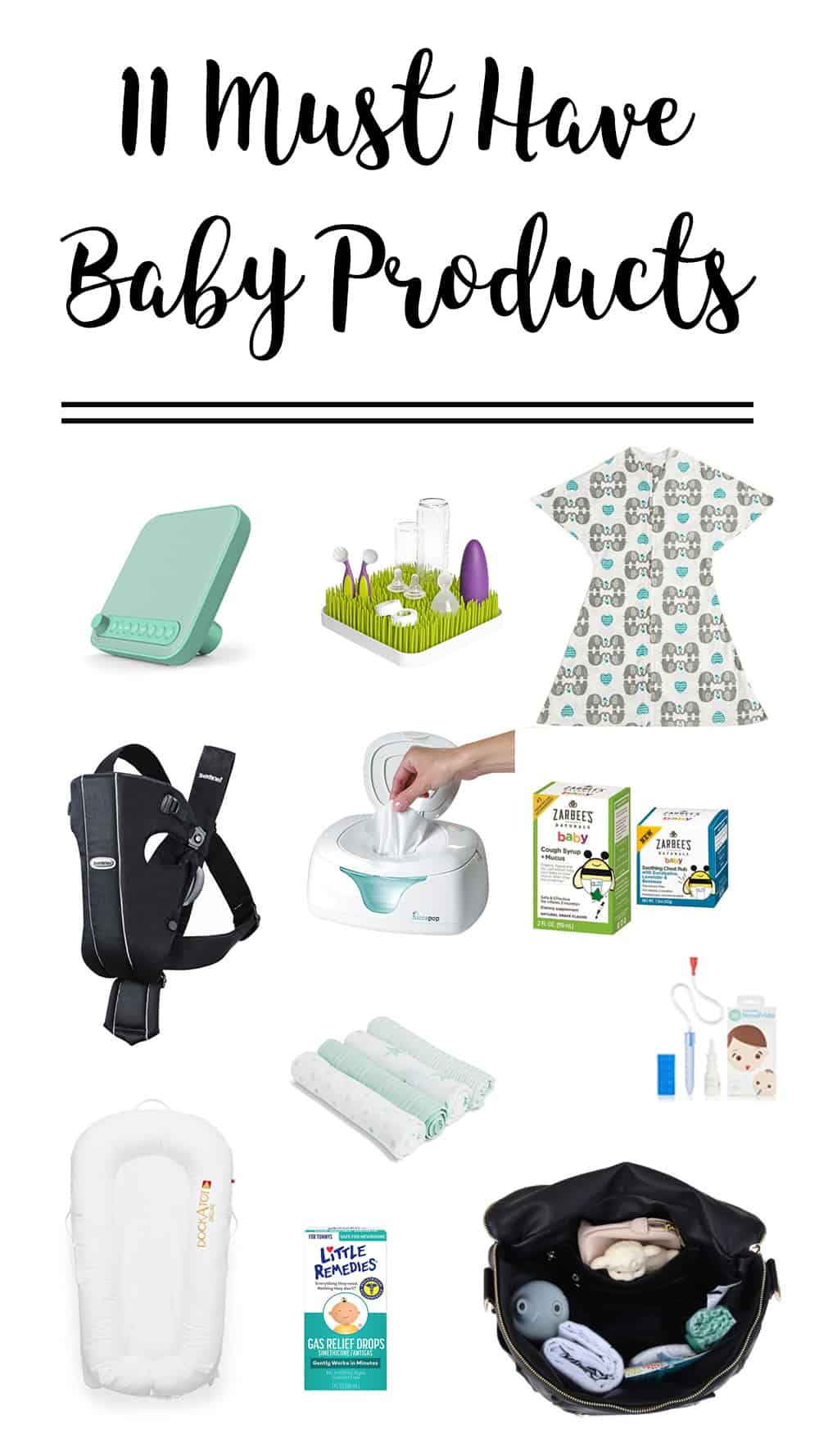 You don't need much to take care of a little one, but after four kids these 11 things are my own personal must have baby products. They make life so much easier!