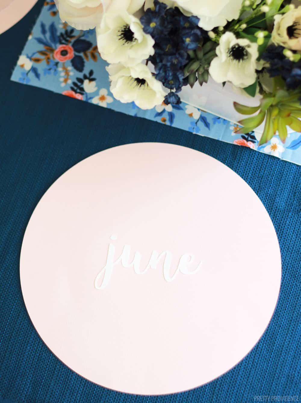 Easy Diy Name Placemat Pretty Providence