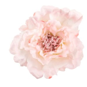 Pink peony stem faux