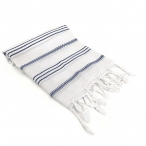 Turkish Towel Navy and White