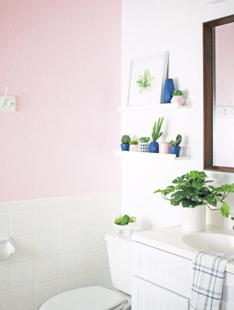 Pink Bathroom Makeover