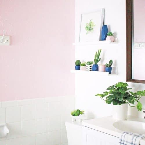 Pink Bathroom Makeover
