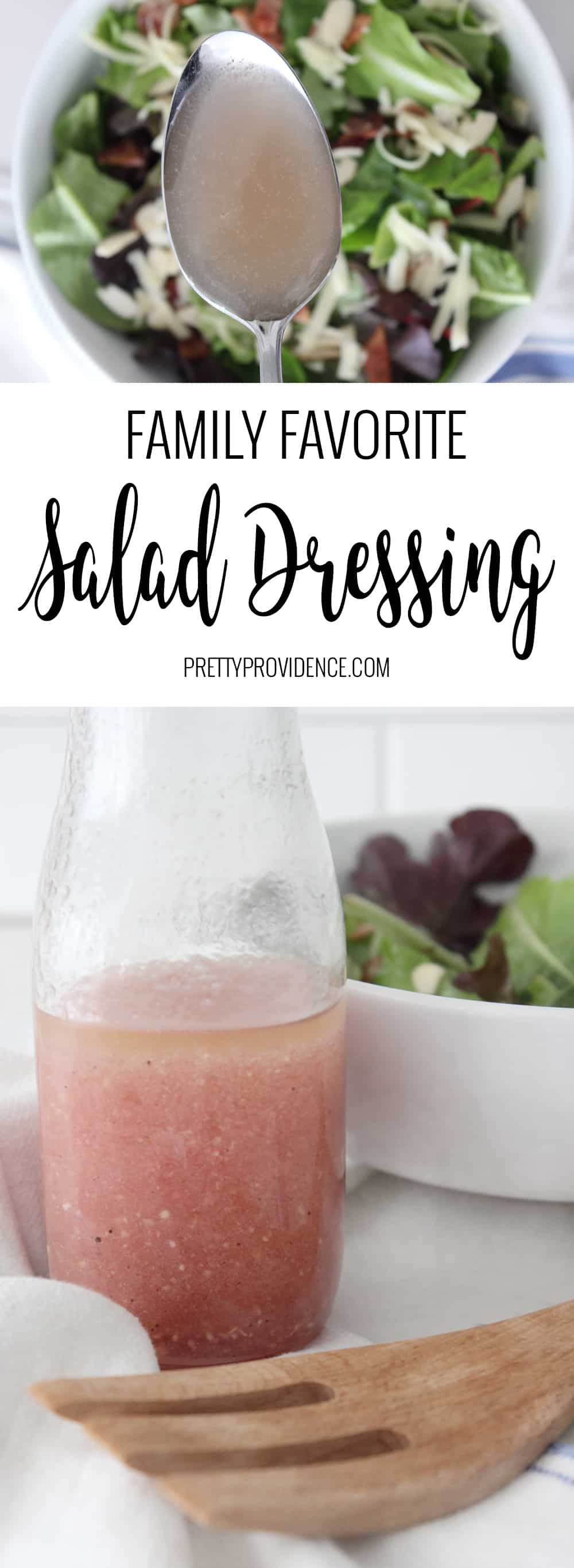 Our families very favorite salad dressing! It is so good you might want to drink it, but instead just use it for salads all week long!