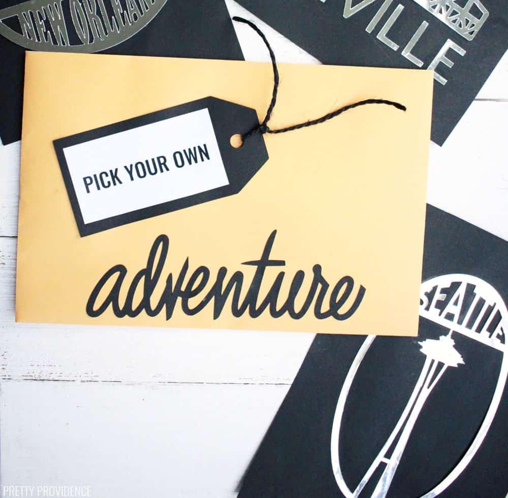 'Pick Your Adventure' Travel Gift Idea