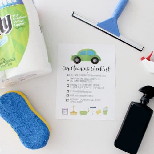 Car Cleaning Checklist