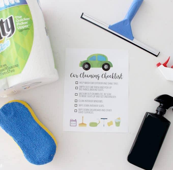 Car Cleaning Checklist