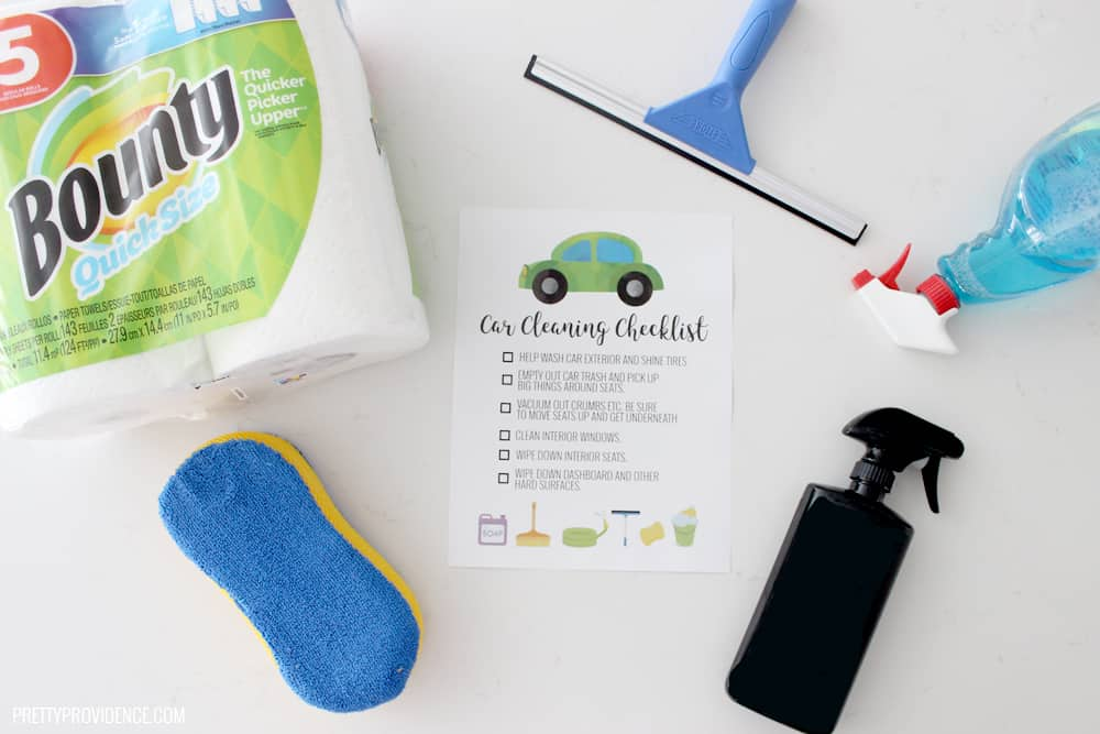 Car cleaning checklist - this is a great way to teach your kids how to clean a car!