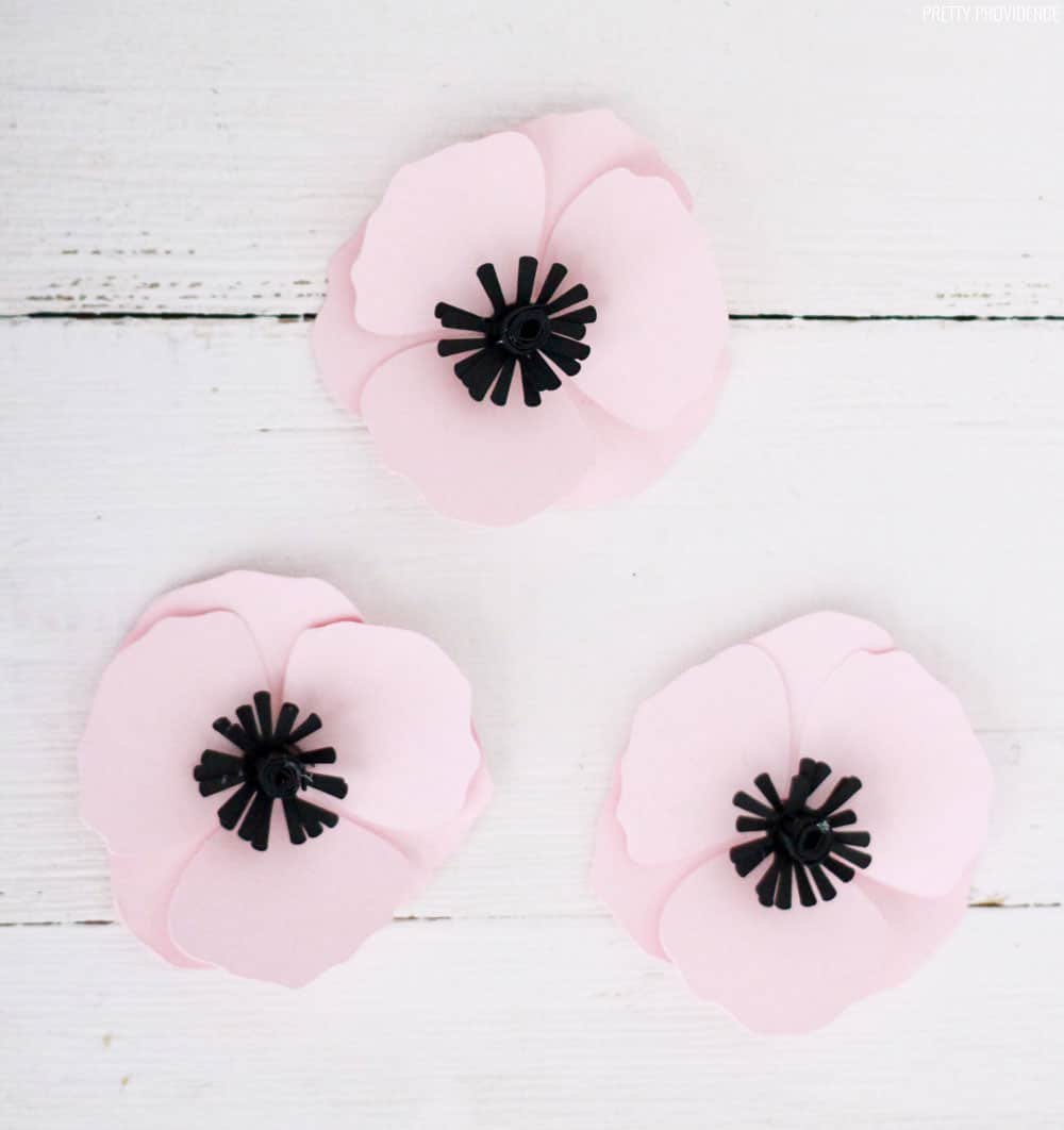 3D Paper Flowers - Poppies