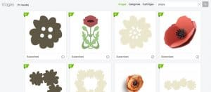 Make paper flowers with card stock in Cricut design space!