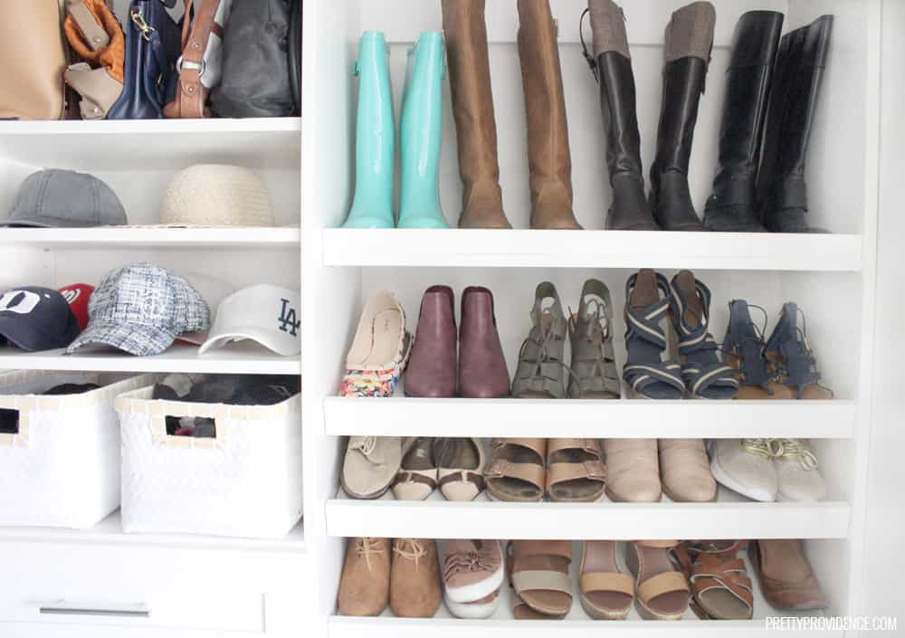 master closet idea for hats, purses, etc.