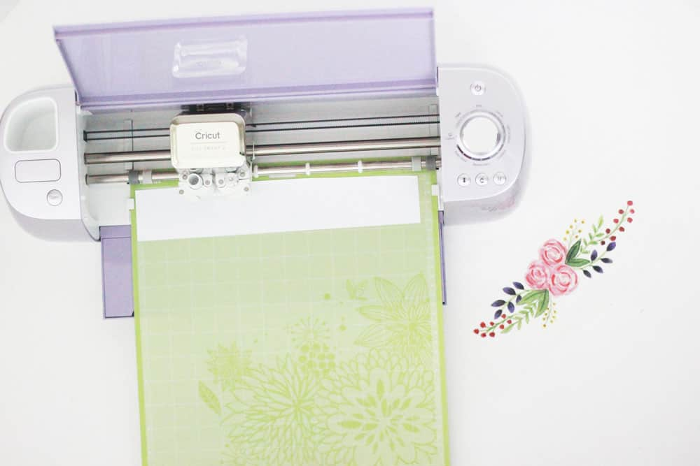 Iron On Cricut with Floral Design