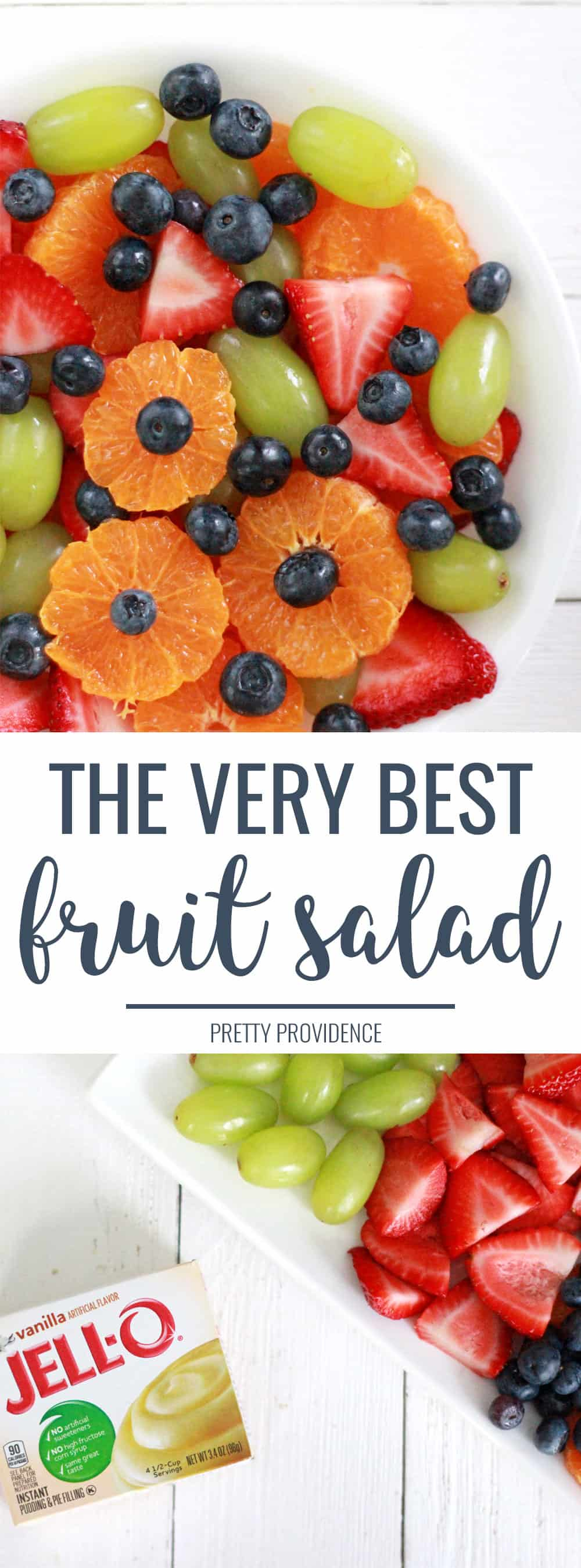 The best fruit salad recipe with sweet vanilla dressing!