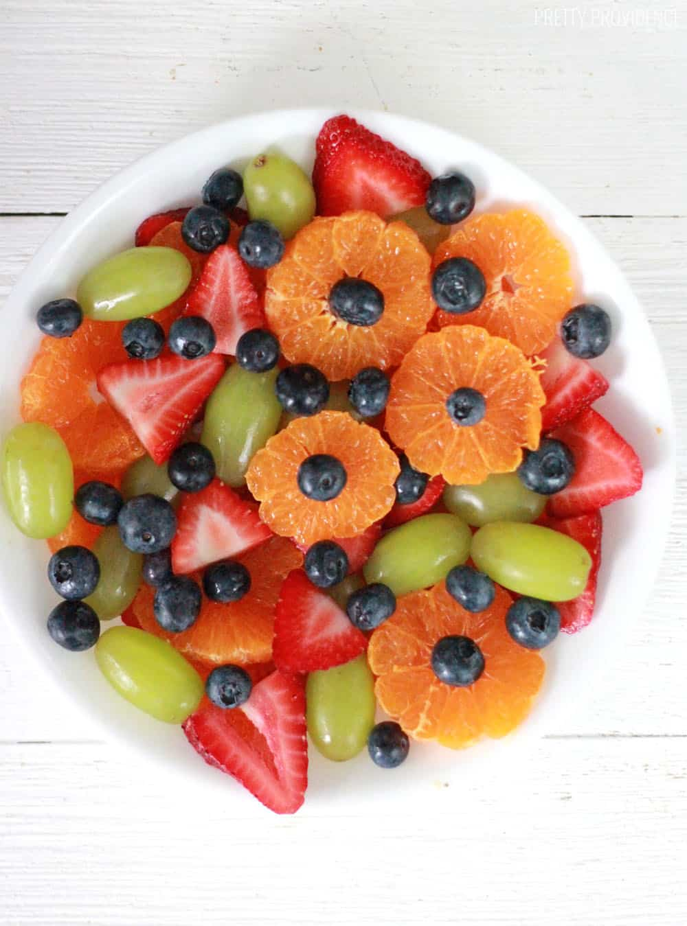 Fruit salad with sweet vanilla dressing!