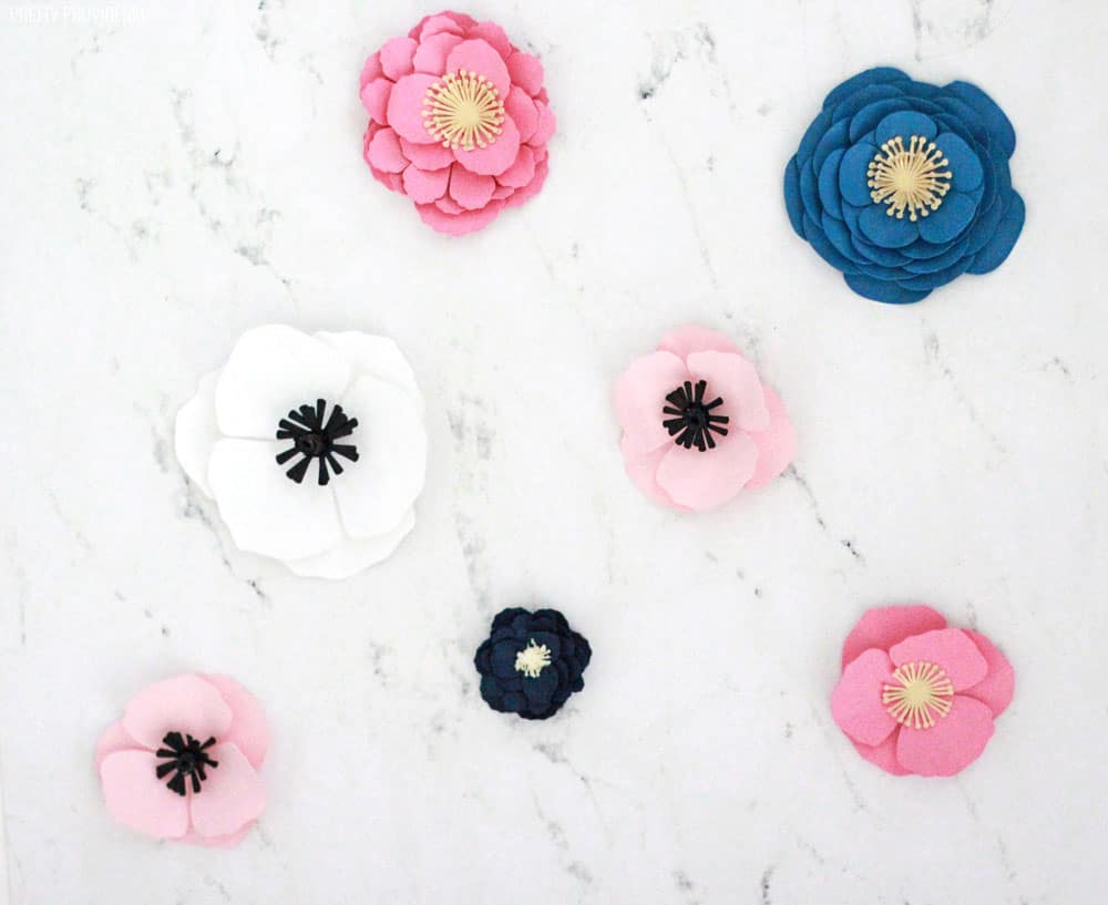 How to make easy paper flowers pretty providence how to make easy paper flowers with card stock and a cricut machine mightylinksfo