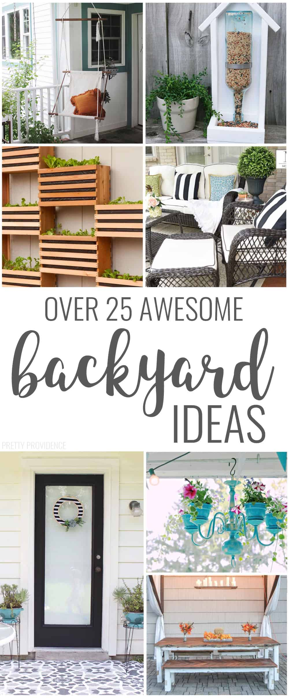 Backyard ideas for decor, seating, the patio! So many good ideas!
