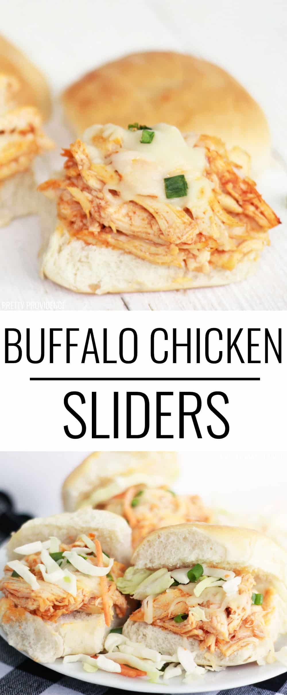 These easy buffalo chicken sliders are SO good! Make your buffalo chicken in the slow cooker and then you have a delicious, easy dinner!